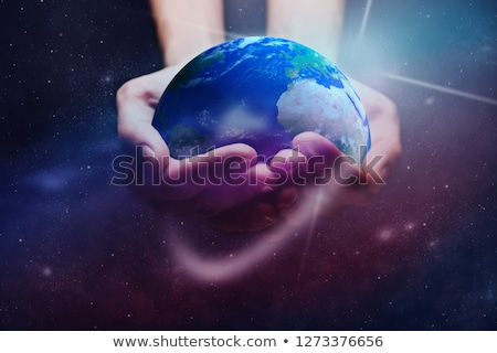 Woman dusting a globe Stock photo © photography33