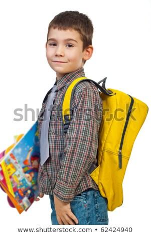 Little boy with a satchel, studio shot Stock photo © photography33