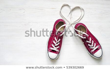 кроссовки сердце классический черно белые хорошие слой Сток-фото © czaroot