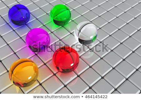 3D resumen cubo pelota forma púrpura Foto stock © Melvin07