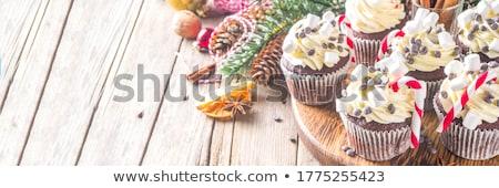 christmas · cookie · czerwony · biały · wstążka - zdjęcia stock © lisafx