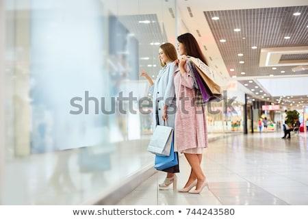 Detalicznej terapii szczęśliwy zakupy dziewczyna Zdjęcia stock © sumners