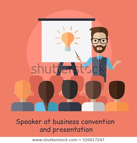 Mentor csapatmunka vonzó üzleti csapat érett üzletasszony Stock fotó © lisafx