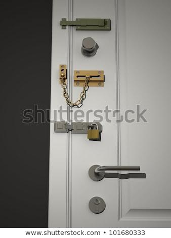 Porte plusieurs vieux flèche Photo stock © HectorSnchz