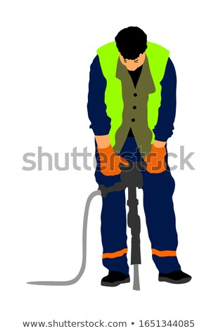 A mason with a drill. Stock photo © photography33