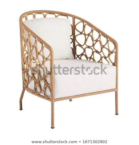 wooden chair on white background stock photo © tashatuvango