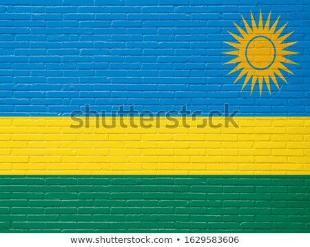 флаг Руанда кирпичная стена окрашенный Гранж текстуры Сток-фото © creisinger