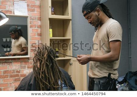 dreadlocks at work Stock photo © jayfish