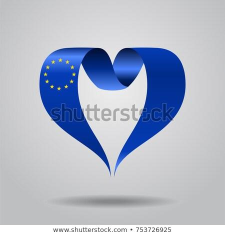 flag of european union in heart shape stock photo © experimental