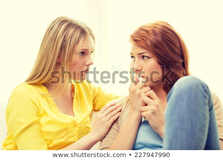 Girl comforting another girl Stock photo © photography33