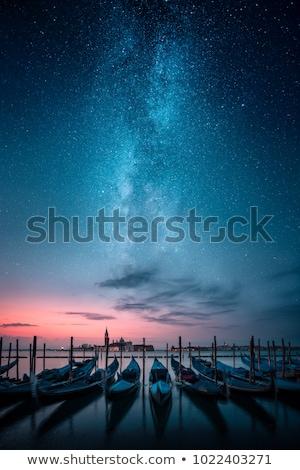 Velencei gondola éjszaka vektor rajz tenger Stock fotó © pcanzo