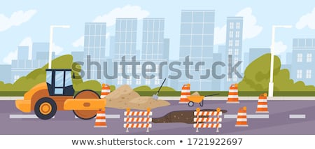 рабочие · команда · дорожное · строительство · дороги · здании · работу - Сток-фото © alenmax