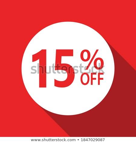 15 százalékok árengedmény 3D piros kör Stock fotó © marinini