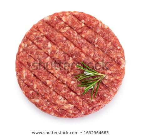 Carne fondos blancos rojo grasa fondos cordero Foto stock © Masha