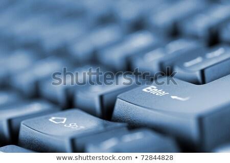 Computer keyboard - blue key Support, close-up stock photo © maxmitzu