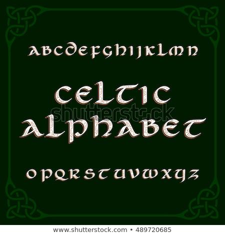 Celtic Alphabet Stock photo © Silvek