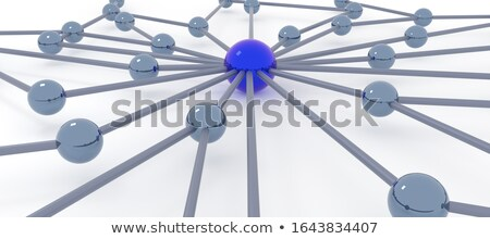 Stock photo: 3D People in glossy Metal Net