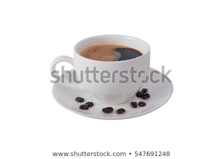 branco · copo · café · expresso · pequeno · isolado - foto stock © winterling