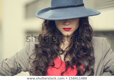 Styling. Gorgeous Fashion Woman with Trendy Hairstyle. Brown Hairs Stock photo © gromovataya