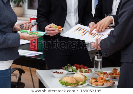 Corporate catering food services Stock photo © Lightsource