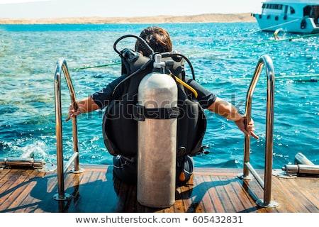 Scuba diving tanks Stock photo © Hofmeester