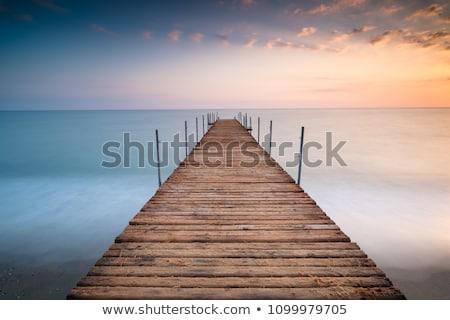 gaivotas · pier · água · natureza - foto stock © unikpix