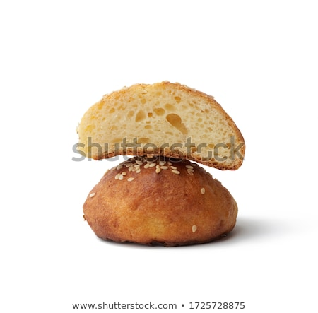 bun with sweet sesame seeds isolated stock photo © shutswis