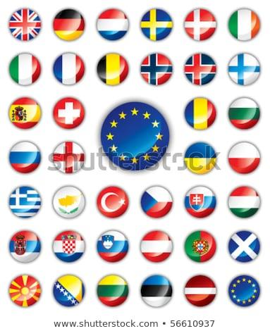 Bułgaria banderą przycisk wektora szkła Zdjęcia stock © gubh83