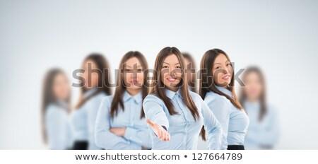 ユニバーサル ワーカー 美しい アジア ビジネス女性 立って ストックフォト © HASLOO