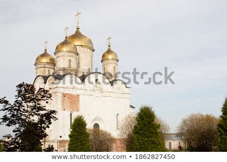 Stock photo: church of nativity virgin in russia