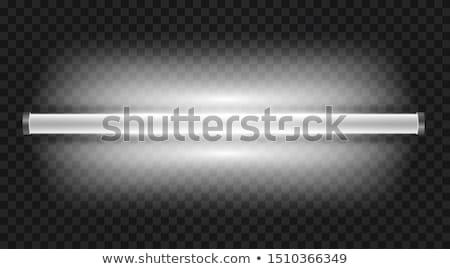 Fluorescencyjny lampy kwiat zielona trawa świetle zielone Zdjęcia stock © selinsmo