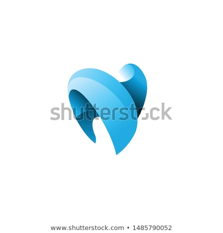 Stock foto: Abstrakten · Zahn · Symbol · glücklich · Mund · lachen