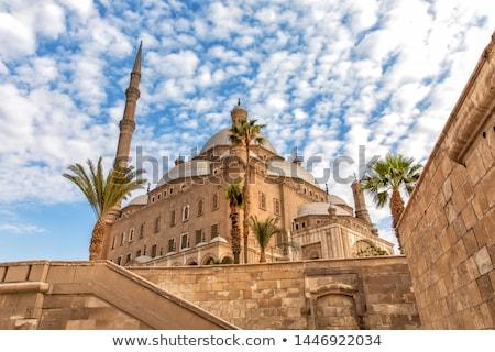Mezquita Cairo Egipto ciudadela nubes Foto stock © TanArt