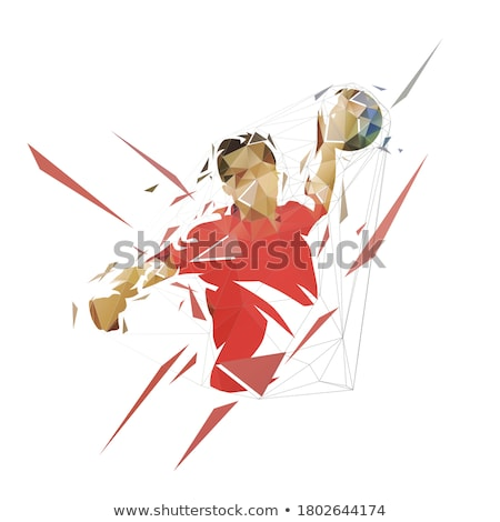 Handball player in front of goal Stock photo © photography33