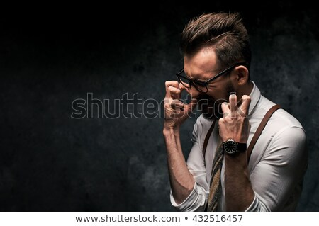 Stock photo: Frustrated angry man