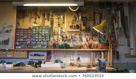 Workbench with tools and screws Stock photo © sdenness