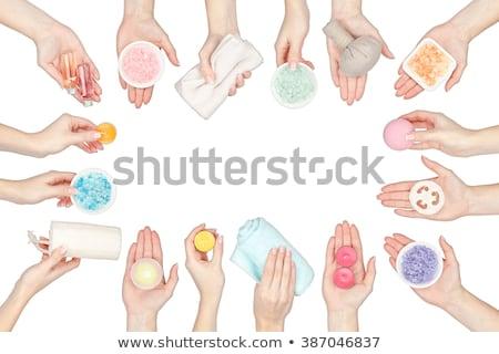 красивой · аромат · ванны · мяча · женщину - Сток-фото © dolgachov