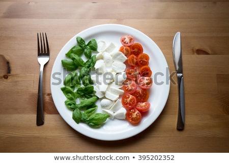 新鮮果物 イタリア国旗 黒 プレート スライス ストックフォト © aladin66