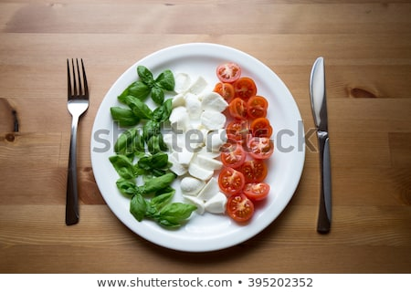 Fresh fruit italian flag Stock photo © aladin66