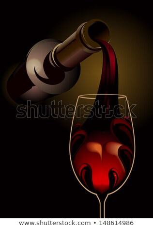 vin · rouge · 3D · sombre · atmosphérique · illustration - photo stock © Porteador