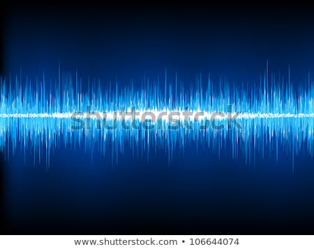 Sound waves oscillating on black. EPS 8 Stock photo © beholdereye