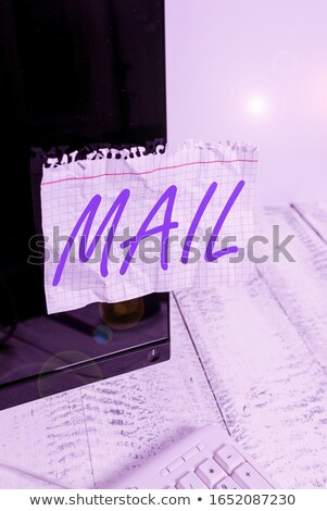 sent envelope on monitor showing delivered messages stock photo © stuartmiles