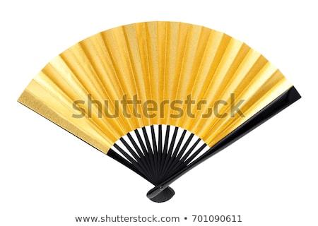 China Hand Fan isoliert weiß Blume Stock foto © gavran333