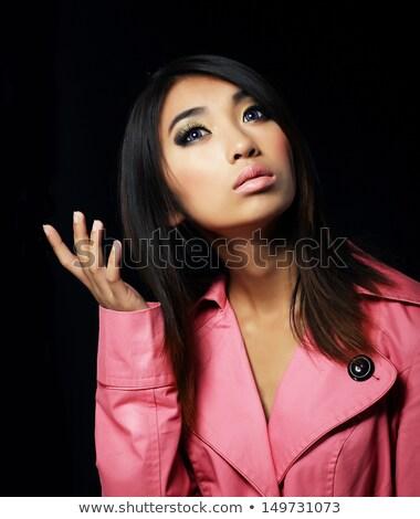 Sentimentality. Elegant Young Woman in Pink Coat Stock photo © gromovataya