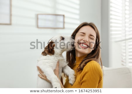 cuddling dog stock photo © pressmaster