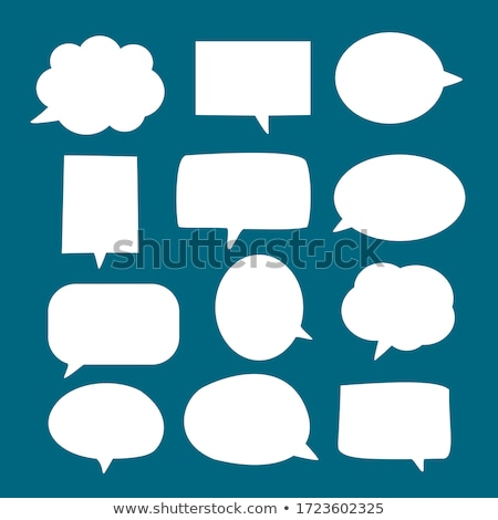 üzenet · buborék · kurzor · illusztráció · terv · kék - stock fotó © alexmillos