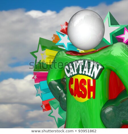 Captain Cash - Money Superhero to the Rescue Stock photo © iqoncept
