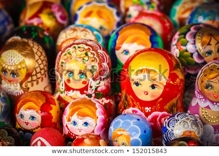 Colorful Russian nesting dolls at the market Stock photo © ryhor