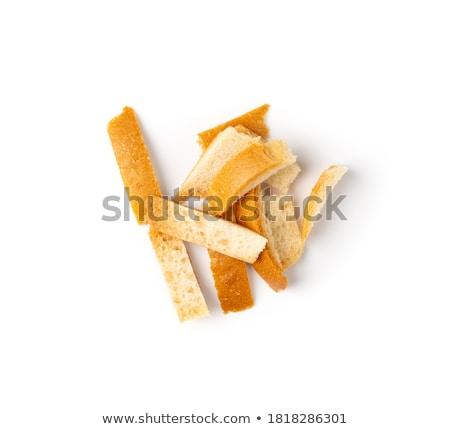 パン スタック ダイエット スライス 白 孤立した ストックフォト © MKucova