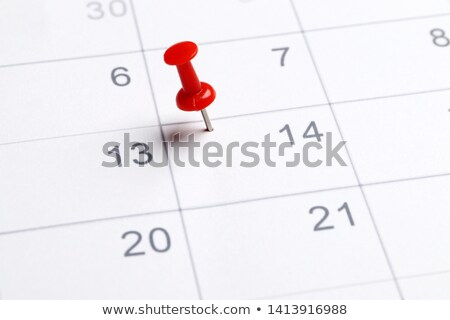 Calendar page with red hearts highlight on February 14 Stock photo © pxhidalgo